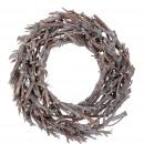 Wreath Kamil, D45cm, H12cm, white